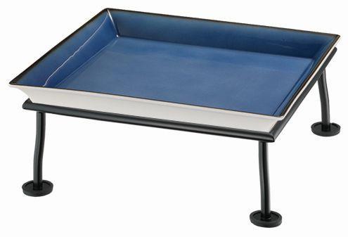 RAISER 'Frischeschale 33x33' blau 3,5 l - M-Standfuß 'Black