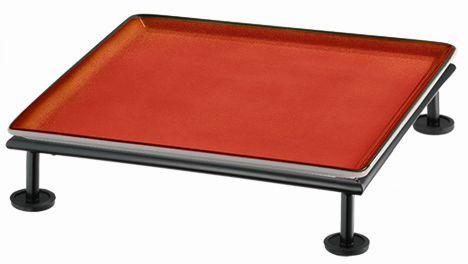 RAISER 'Frischeplatte 33x33' rot S-Standfuß 'Black Steel'