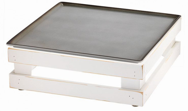 RAISER 'Frischeplatte 33x33' grau M-Standfuß 'Vintage White'
