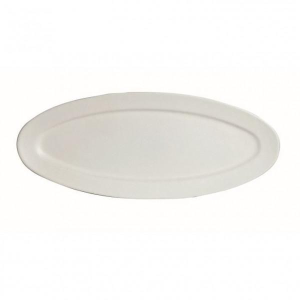 Fischplatte, oval weiß - 1,5 L - 27,5 x 68 x 2,5 cm