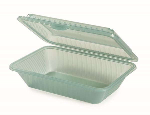 Eco-Takeout® Behälter, halbe Größe grün - 23 x 16.5 x 6,4 cm