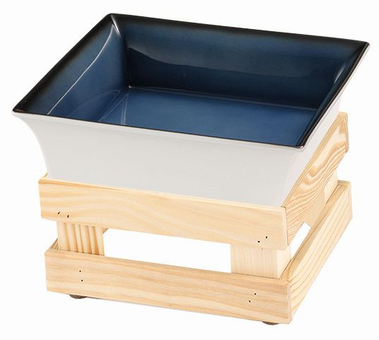 RAISER 'Frischeschale 23x23' blau 2,5 l - M-Standfuß 'Spruce