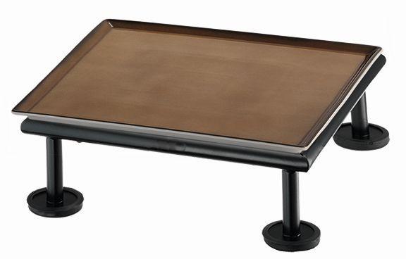 RAISER 'Frischeplatte 23x23' caramel S-Standfuß 'Black Steel