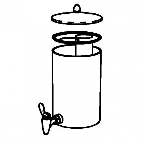 SPARE Nachschubbehälter Opal, Saftkanne 5 Liter, Mod. Gold