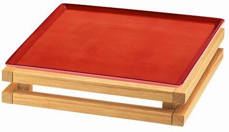 RAISER 'Frischeplatte 33x33' rot S-Standfuß 'Oak'