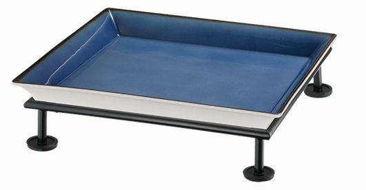RAISER 'Frischeschale 33x33' blau 3,5 l - S-Standfuß 'Black