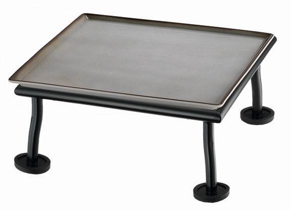 RAISER 'Frischeplatte 23x23' grau M-Standfuß 'Black Steel'