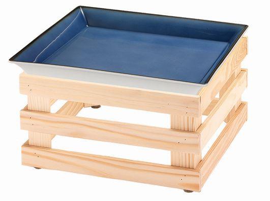 RAISER 'Frischeschale 33x33' - blau 3,5 l - L Standfuß