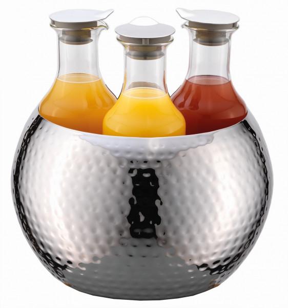 CARAFINE Getränke-Set 'Hammered Triplet' 3 x 1,2 Liter