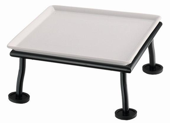 RAISER 'Frischeplatte 23x23' weiß M-Standfuß 'Black Steel'