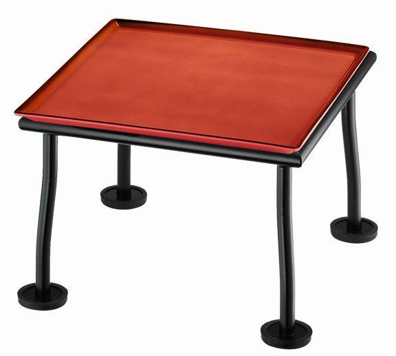 RAISER 'Frischeplatte 23x23' rot L-Standfuß 'Black Steel'