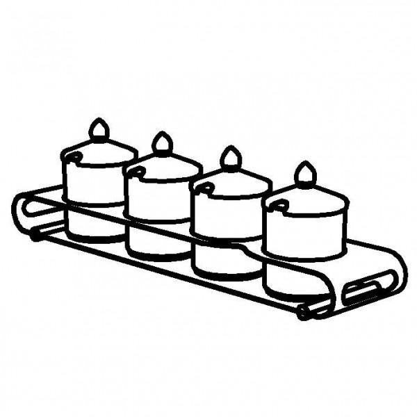 ELEGANCE Konfitürenbar 'Quadro' 4 x 0,6 Liter, Modell
