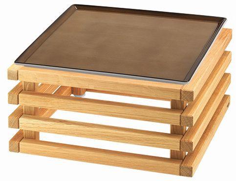 RAISER 'Frischeplatte 33x33' caramel L-Standfuß 'Oak'