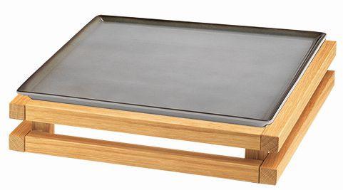 RAISER 'Frischeplatte 33x33' grau S-Standfuß 'Oak'